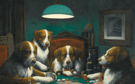 Dogs Playing Poker Poker Game 1894