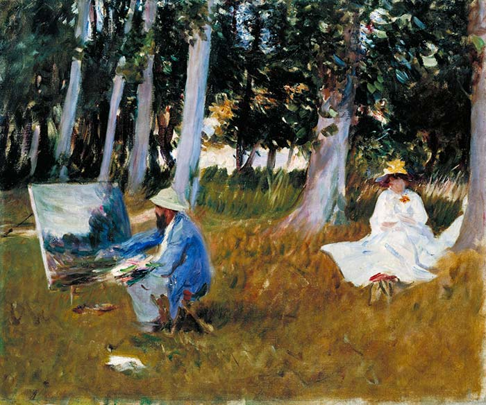 Claude Monet Painting at the Edge of a Wood, John Singer Sargent, 1887