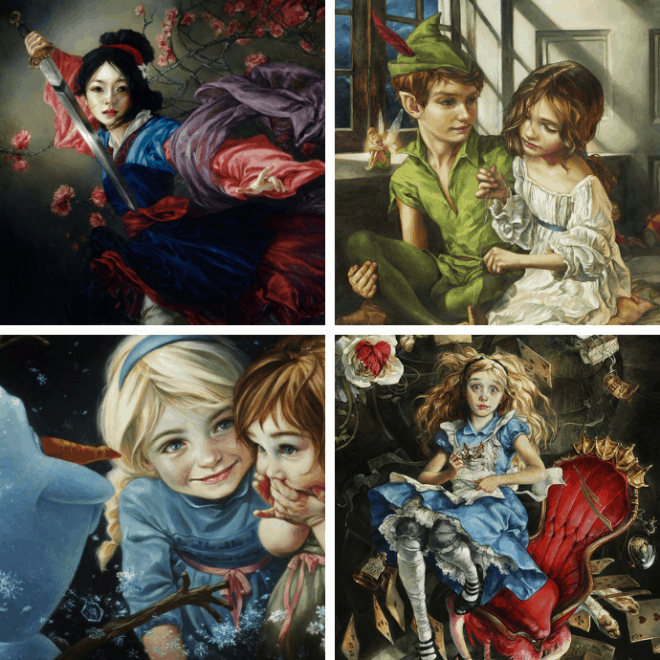 Disney Figuren Malen Heather Theurer