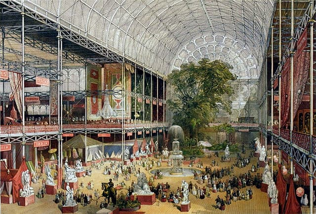 Great Exhibition of 1851 in the Crystal Palace,