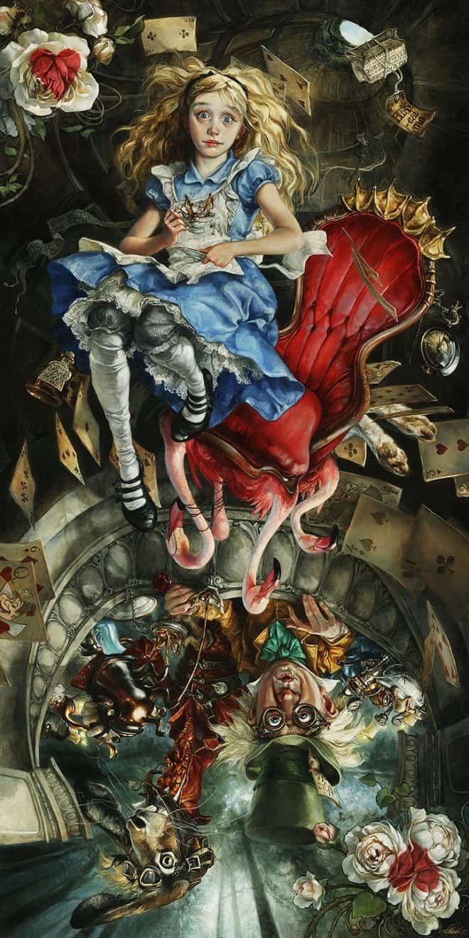 We're all mad here Alice in Wonderland Heather Theurer