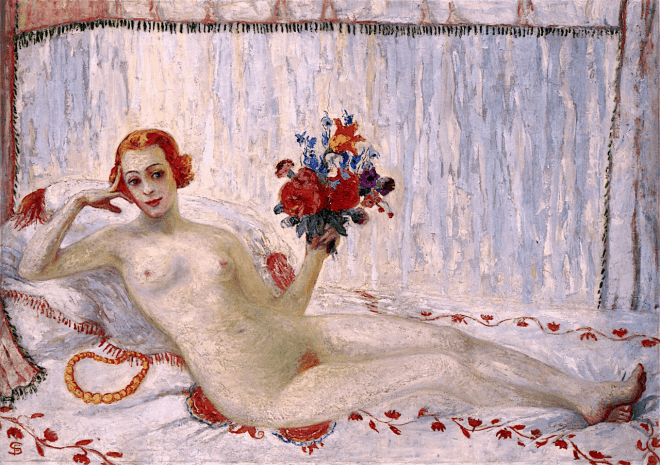 A-Model-Nude-Self-Portrait-by-Florine-Stettheimer