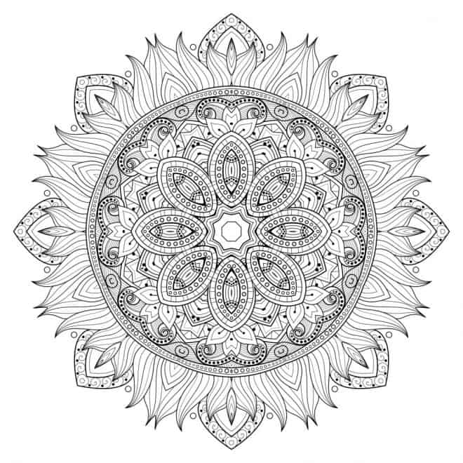 Mandala Vorlage The Maven Circle