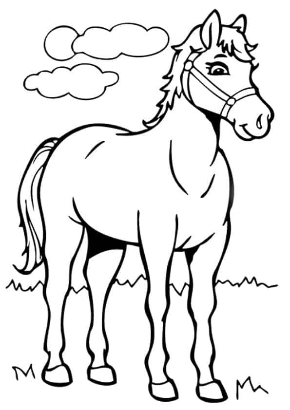 Momjunction Ausmalbilder Pferde