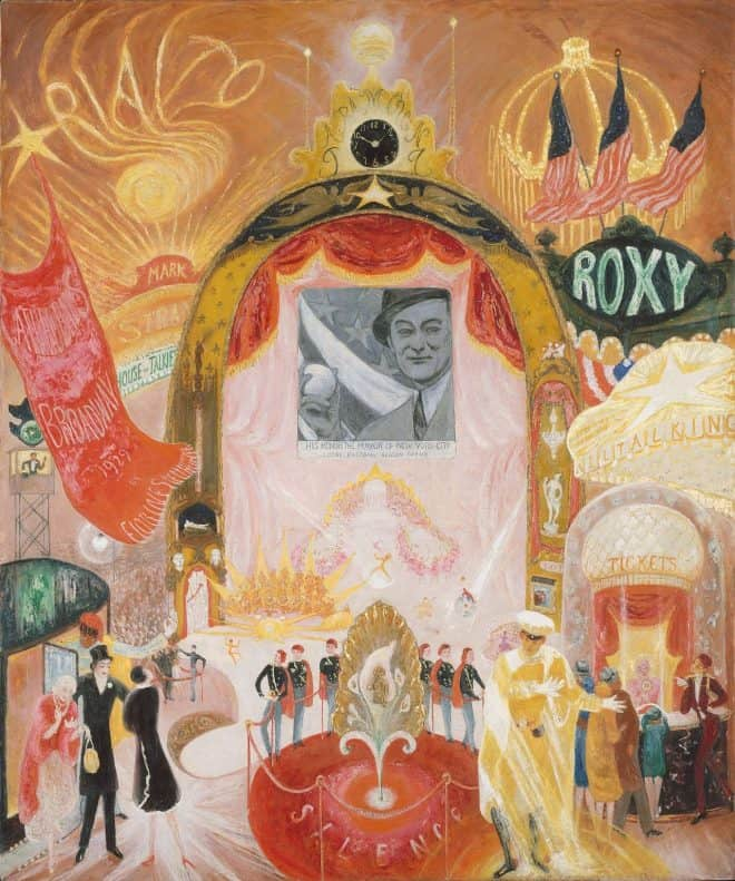'The_Cathedrals_of_Broadway'_by_Florine_Stettheimer,_1929