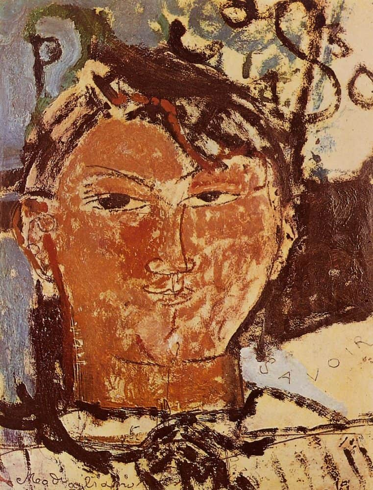 Amedeo Modigliani, Portrait of Pablo Picasso, 1915