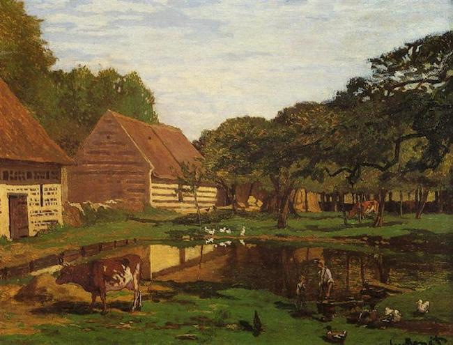 Claude Monet, Bauernhof in der Normandie, c. 1863