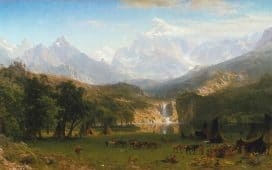 Hudson River School: Albert Bierstadt, The Rocky Mountains, Lander's Peak, 1863
