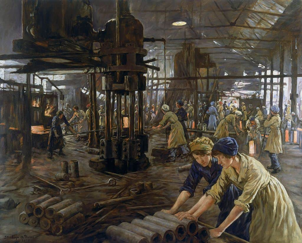 Alexander Stanhope Forbes, The Munitions Girls, 1918