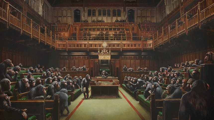 Banksy, Devolved Parliament, 2009