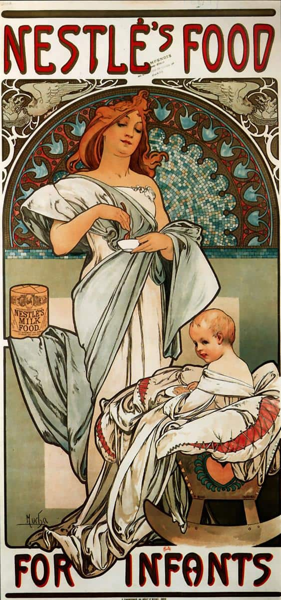 Alfons Mucha, Nestlé`s Food for Infants, 1897