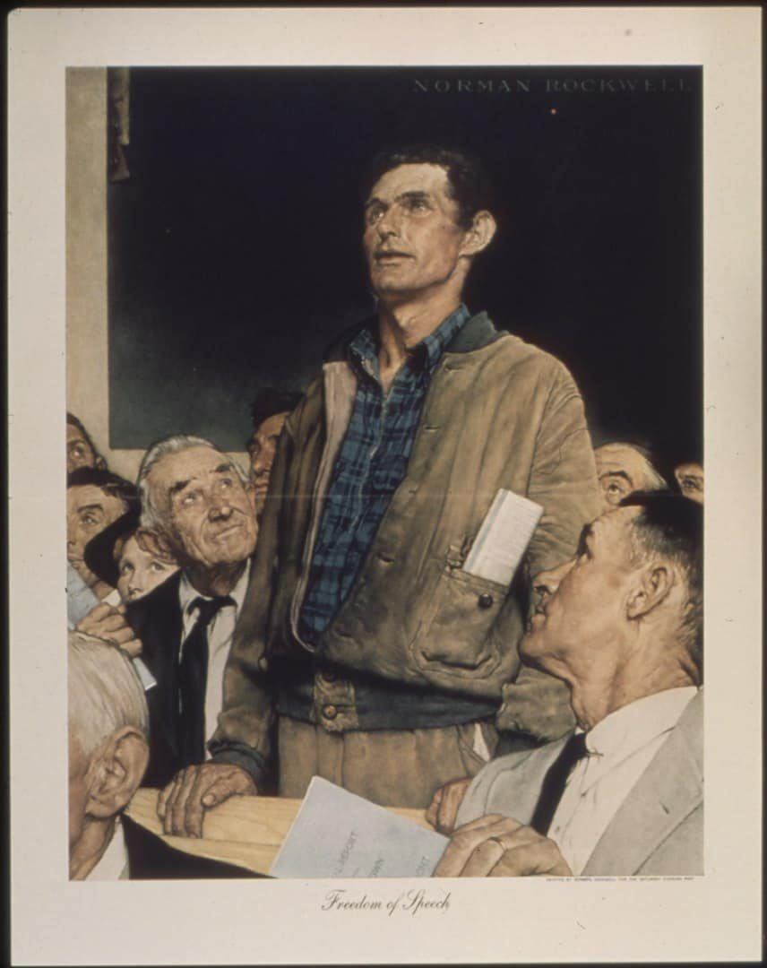 Norman Rockwell, Freedom of Spech, 1943