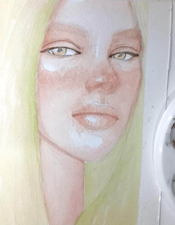 Billie Eilish malen Augen