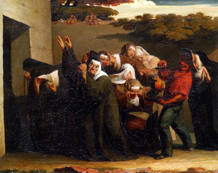 Jean Francois Millet, Le perroquet de la religieuse, 1839-1840