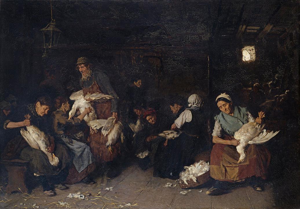 Max Liebermann, Gänserupferinnen, 1871 bis 1872
